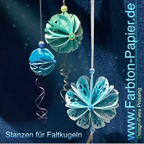 3er Set Faltkugeln-Stanzen (29S, 30M, 31L)