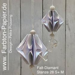 2 Faltdiamant-Stanzen (28 S/M)