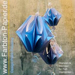 3 Faltdiamant-Stanzen (28 S/M/L)