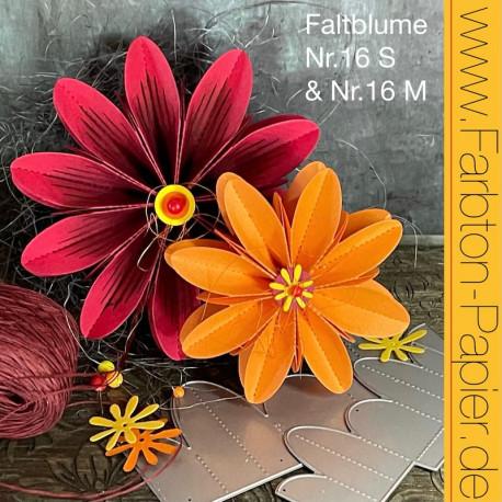 Stanzen-Duo Faltblume (16 S+M)