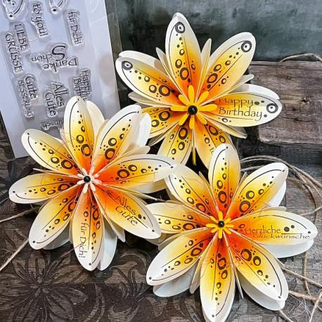 7 Stempelmotive für Faltblume Nr.16 (M)