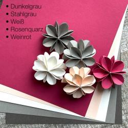 Bögen Papier in 5 Farben DIN-A4, 160g
