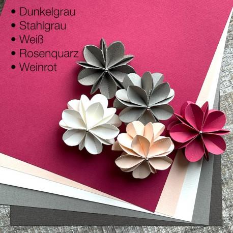 10 Bögen Papier in 5 Farben DIN-A4, 160g