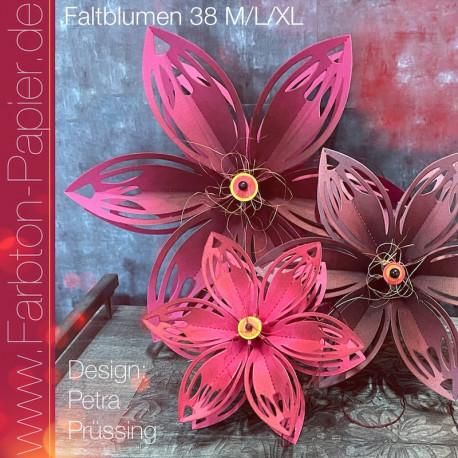 Stanzen-Set Faltblume (38 M+L+XL)