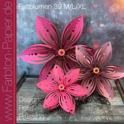 Stanzen-Set Faltblume (39 M+L+XL)