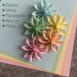 10 Bögen Papier in 5 Farben DIN-A4, 120g